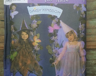 Girls Fairy Princess or Witch Costume Pattern -  sizes 3-8