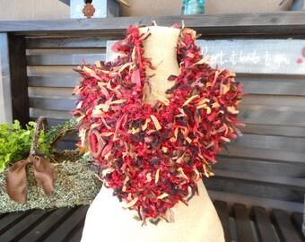 Art Yarn Cowl   Hand Knit Cowl