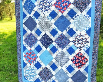 PDF Quilt Pattern- Fanlight Quilt Pattern by Jessica Dayon of Skein and Hook, #102 Fanlight Quilt, quilt pattern, quilt pattern, feedsack