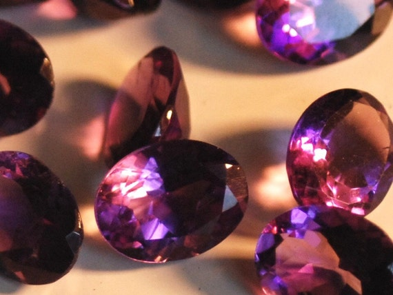 Lot of 10 Gorgeous Oval Cut Matching Amethysts 7mm x 9mm