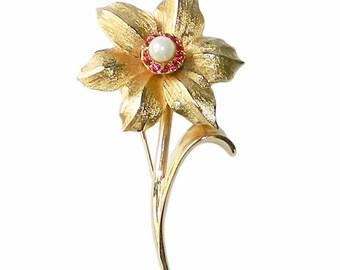 Vintage 1950s Flower Brooch by Marcel Boucher