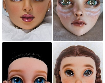 Repaint / Face Up LARGE Doll