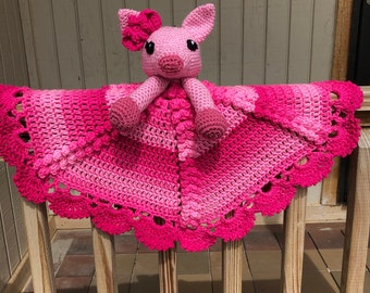 Pink Piggy Lovey/Security Blanket