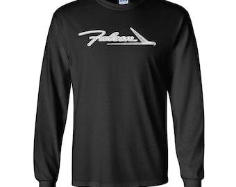 Ford Falcon Custom Screen Printed Hot Rod Muscle Classic Car Long Sleeve T-Shirt