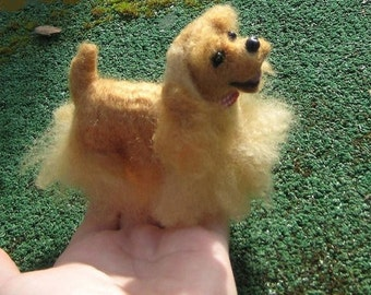 Needle Felted Dog / Custom Miniature Sculpture of your pet Cute by GERRY animated Toy Style