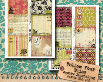 Follow Your Bliss - Square Journaling Cards