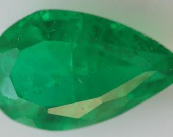 Emerald Doublet 1.83cts g2735 Pear Shape 9.96 x 7.26mm Green Pear Cut Faceted Gemstone Jewelry Making Semi Precious Gemstone