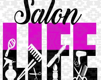 Salon,beauty salon svg,Salon svg,Hairdresser svg, silhouette, salon svg Life Design silhouette studio