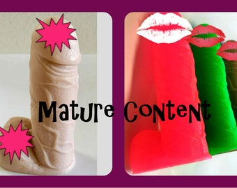 """Mature Content - Ten Penis Soaps - Bachelorette Party - Free U.S. Shipping - 3-D PENIS - Almost 5"""" Tall - Favors - Choose Color and Scent"""