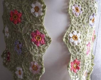 Crochet  handmade shawl  lacy wrap scarf spring summer