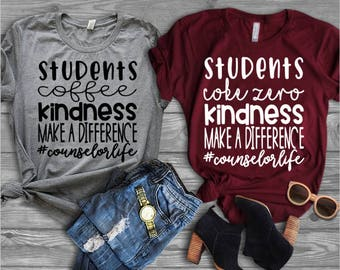 Counselor Shirt//Shirt for Counselor//Make a Difference//School Counselor Shirt//Gift for Her