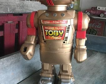 1986 Toby Walking Talking Robot |  New Bright Hong Kong Robot