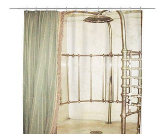 Vintage design - Unique Shower Curtain - vintage bathtub designed -  printed shower curtain