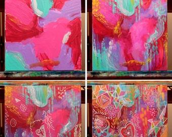 Kids Collaboration Painting - CUSTOM SLOT