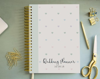 A4/A5 Personalised Wedding Planner - Minty hearts Design
