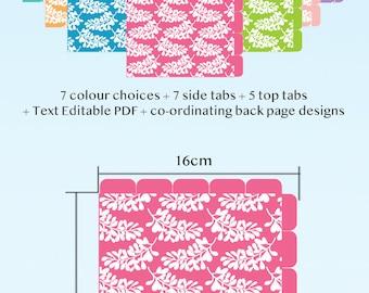 Planner Dividers Half Size A5 | Text Editable | Cut Away Rounded Tab | Printable Planner Divider | Binder DividerS | Binder Organiser | PDF