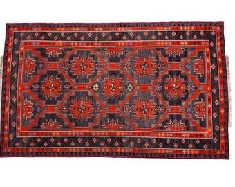 "5'8""x9'7"" SOUMACK, Vintage Turkish kilim rug, area rug, soft color rug, flat kilim rug, organic wool kelim, vintage rug, bohemian rug, Boho"