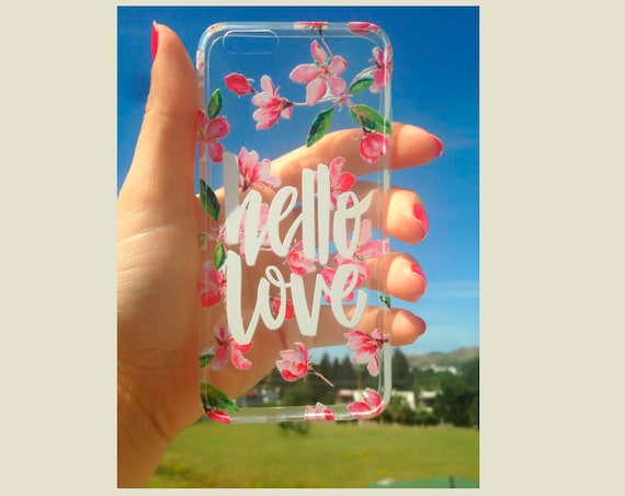 iPhone 7 Plus case Clear Hello Love iPhone 6s case iPhone 6 case quote iPhone 6s plus case Rubber iPhone 7 case Clear iPhone 6 Plus case