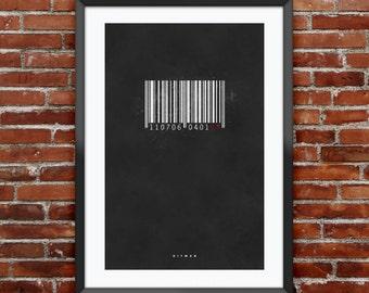 "Hitman inspired print 11X17"""
