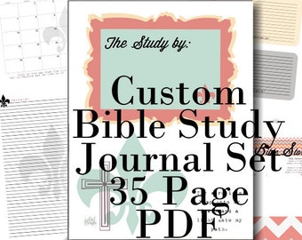 PDF BIBLE Study Notes and Prayer Journal and References - 35 Printables - Custom - Chevron - Speaker Notes - Memory Verses - Topical - SOAP
