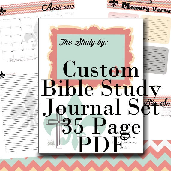 Bible Study Reference: PDF BIBLE Study Notes And Prayer Journal And References 35