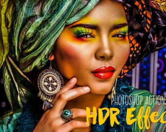 HDR Photoshop Actions Premium Collection hdr effect hdr Professional actions HDR photography Actions Photoshop faux hdr instant download