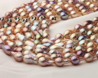 8.5-12mm Rainbow Color Baroque Edison Pearl Strand, AAAA quality