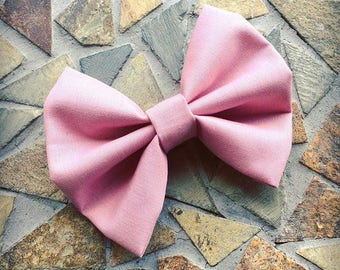 Solid Mauve Fall Hair Bow Set Of 2