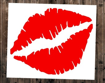 Lips Decal, Kissing Lips Decal, Makeup Decal, Yeti Lips Decal, Car Window Decal, Kiss Decal, Yeti Decal, Yeti Decal For Women, Lips Sticker