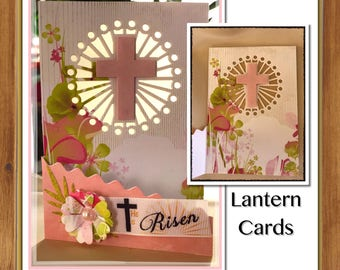 Christian handmade cards | name or event personalisation | sun catcher illuminated | Baptism | Confirmation | Communion | Easter | unique