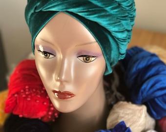 Beautiful Velvet Turban head wrap/Hijab  (Small & Ex large)