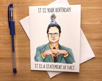 Funny Office Birthday Card, Nerdy Birthday Greeting Card, Printable Downloadable Birthday Card, Happy Birthday Boyfriend, Pop Culture Card