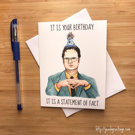 birthday card office
