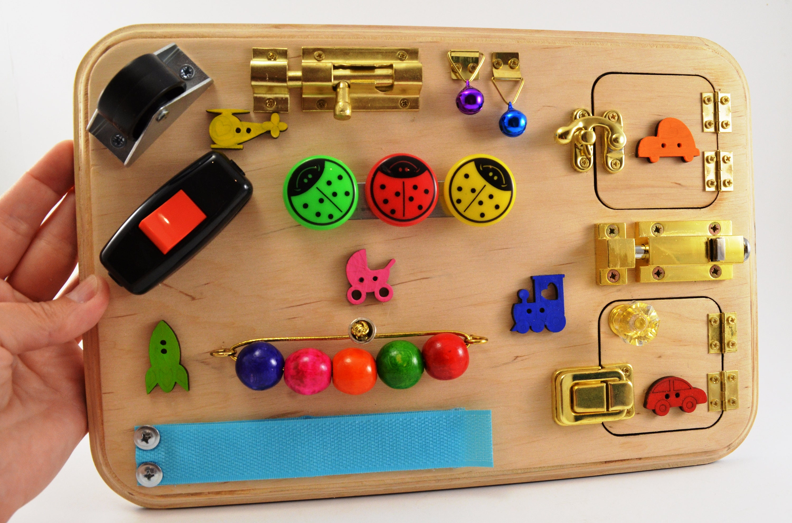 Learning Toys For Autistic Boys : Trevel busy board for baby mini activity