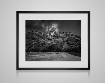 Black White Mountain, Black And White, Mountain Landscape, Landscape Print, Photography Print, Extra Large Wall Art, Huge Canvas Art