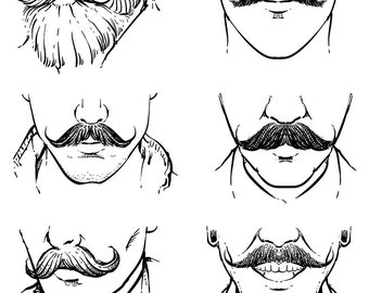 80% Off Sale Hand drawn Vector set of hipster mustache outline. Hand drawn mustache vector. hipster with clipping path. (EPS, JPG)