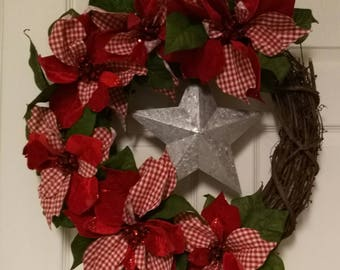 Country poinsettia with star