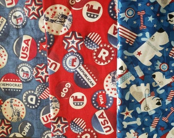 Election Collection hair bow/ boys bow tie/ dog bow tie/ pet bandana