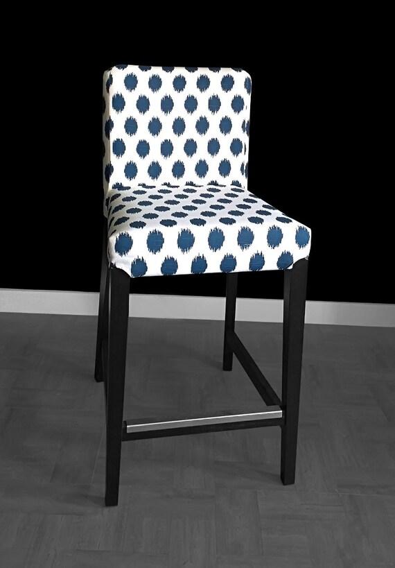 Blue Polka Dots Ikea Henriksdal Chair Cover