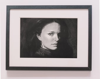 Natalie Portman Oil Portrait. Painting Gift Wall Decor Anniversary Engagement for Her