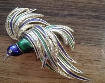 Vintage Peacock brooch