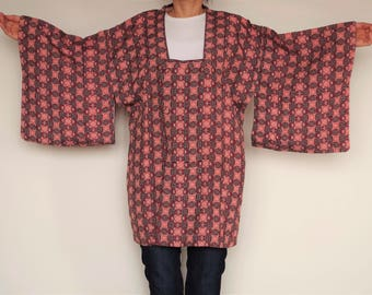 Michiyuki  coat Short size kimono  coat. It is so much fun motifs.  You can wear easily. Enjoy Japan fashion !