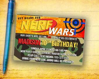 Dart Invitation, Dart Gun War Party Invite, Gun War Invitation, Dart Gun Digital Invitation, Dart War Birthday Invitation, Dart Battle