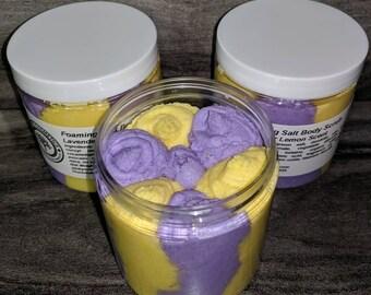 Lavender Lemon Foaming Salt Body Scrub