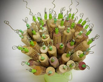 Alternative Floral Bouquet Beaded Wine Cork