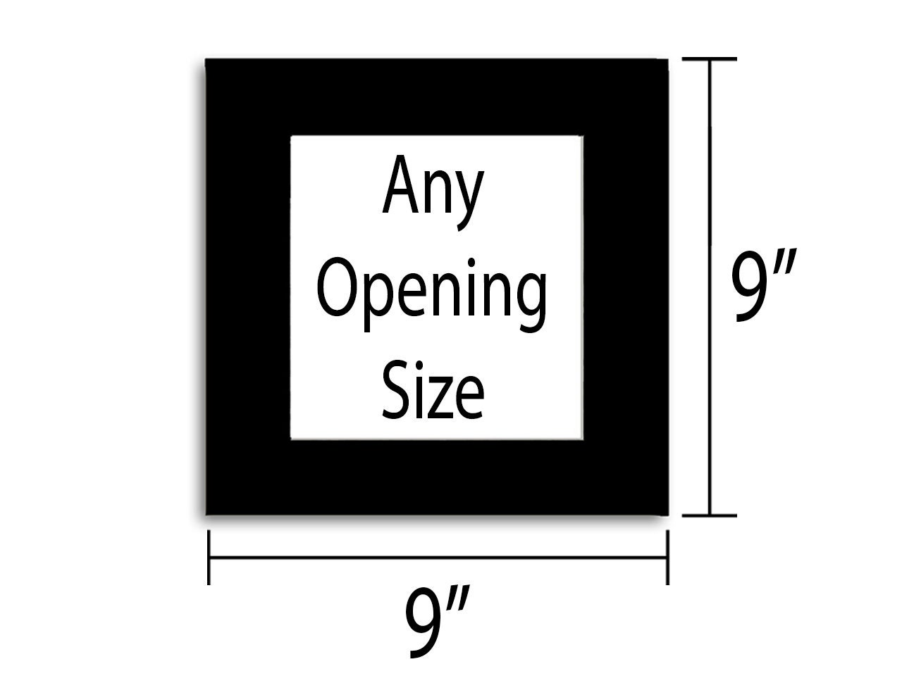 9x9 photo mat multiple colors any opening size zoom geenschuldenfo Images
