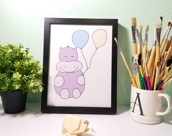 Giggling Hippo for Kid's Room Decor