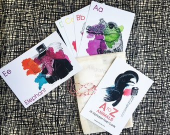 Animal Alphabet Flash Cards- 4x6 Flash Cards,