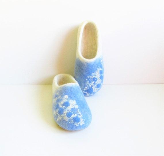 slippers women slippers blue slippers natural women's slippers slippers house felt wool white shoes shoes felt Felted felted wool 15aFd1q