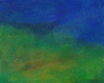 Horizon 2 acrylic painting on canvas board semi-abstract landscape